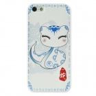 Colorfilm Cute 3D Chinese Zodiac Snake Pattern Protective PC Back Case for Iphone 5 / 5s - White