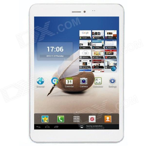 "AMPE A80 7.85 ""IPS Android 4.1.2 Quad-Core-Phone 3G Tablet PC w / 1 GB RAM, 16 GB ROM, GPS - Weiß"