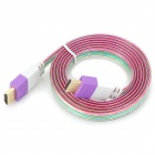 RH--HDMI V1.4 HDMI Male to Male Connection Cable - Purple + White + Multi-Colored (150cm)