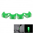Bicycle LED Green Front / Taillight Warning Safety Light - Green (4 PCS / 2 x 2032)
