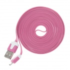 Micro USB to USB 2.0 Data / Charging Cable for Samsung -Deep Pink (3m)