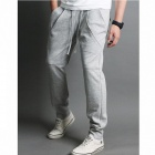 Fashionable Men's Casual Sport Pants - Grayish White (Size-L)