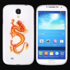 Good Luck Dragon Pattern Protective Soft Silicone Back Case for Samsung Galaxy S4 - White