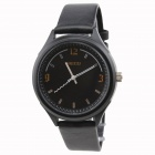 KEZZI 6256 Stylish PU Leather Band Men's Quartz Analog Wrist Watch - Black (1 x 10)