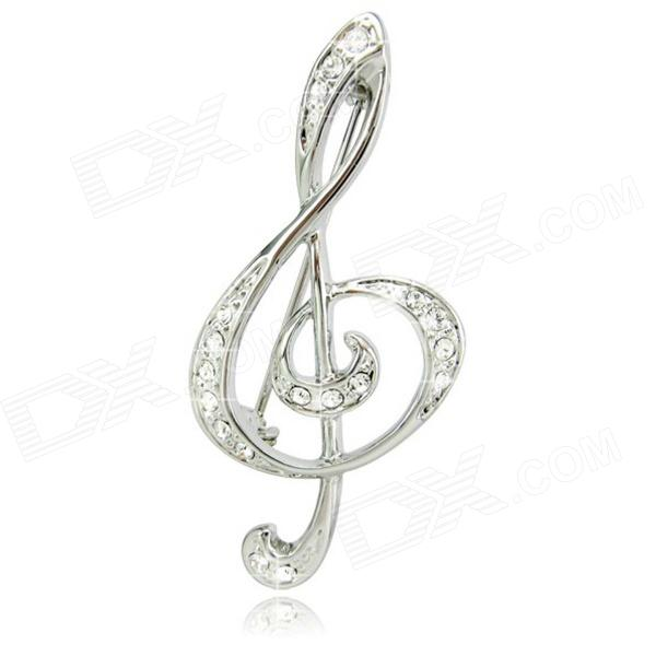 DEDO Music Gifts MG-37 Romantic Elegance Rhinestone Brooch High Notes Brooch