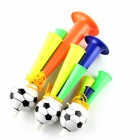 2014 Brazil World Cup Mini Fans Horn Three Tubes Speaker - Red + Green + Yellow (3 PCS Family Kit)
