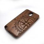 Compass Pattern Detachable Protective Wooden Back Case for Samsung Galaxy Note 3 N9000 - Brown