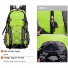 Locallion Outdoor Multi-function Backpack Bag - Green + Grey (40L)