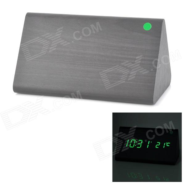 Triangle Style Voice Control Desktop Alarm Clock w/ LED Display