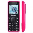 "ULCOOL Q6 Stylish GSM Bar Phone w/ 1.5"" Screen, Bluetooth, Radio - Deep Pink + Black"