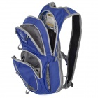 Locallion Outdoor Multi-function Backpack w/ Water Bag Compartment - Blue