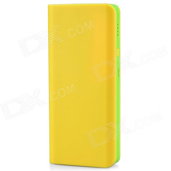 8000mAh Dual USB Portable Power Source Bank for Mobile Phone / Digital Device - Yellow + Green крем bioline jato cream nourishing 50 мл