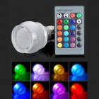 E27 3W 90lm RGB LED Dimmable Bulb w/ Remote Controller (AC 85~265V)