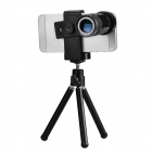 HAUTIK 12X Mobile Telephoto Lens w/ Mini TrIpod for Iphone 4 / 4s / Samsung Galaxy S3 + More - Black