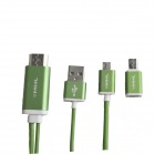 S-M14 Micro USB to HDMI 1080P MHL Cable for Samsung Galaxy S4 / S3 / Note 3 / Note 2 - Green