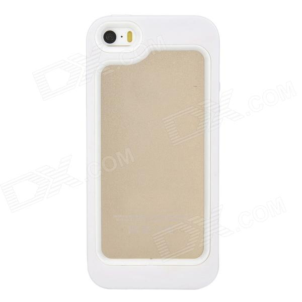 S-What Protective PC + Silicone Bumper Frame Case for Iphone 5 / 5s - White