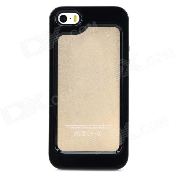 S-What Protective Detachable PC + Silicone Bumper Frame for Iphone 5 / 5s / 5c - Black