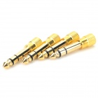 3.5mm Female to 6.5mm Male Audio Adapter for Earphone / Speaker + More - Golden (4 PCS)