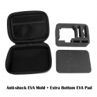 Fat Cat Waterproof PU Anti-Shock EVA Protective Case for GoPro - Black