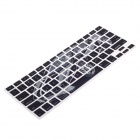 XSKN 799223332D01 Cool Car Macbook Membrane Keyboard Protective Film - Black + Silver