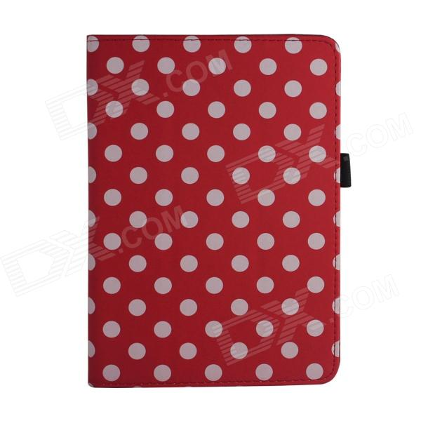 Polka Dot Style Protective PU Leather Case for Retina Ipad MINI - Red + White