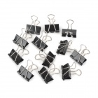 Set de clips de metal para carpeta de acero inoxidable - Negro