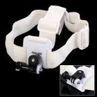 DUALANE Fashionable Integrated Fixed Headband Camera Accessory for SONY AS15 / AS30 - White