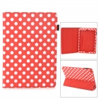 Polka Dot Style Protective PU Leather Case for Ipad AIR - Red + White