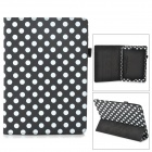 Polka Dot Style Protective PU Leather Case for Ipad AIR - Black + White