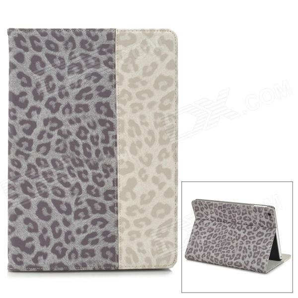 Stylish Leopard Pattern Joint-color Flip-open PU Leather Case w/ Auto Sleep + Holder for Ipad AIR case for new ipad 2017 9 7 sketch cat series auto sleep wake up flip pu leather model a1822 a1823 smart cover