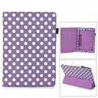 Polka Dot Style Protective PU Leather Case for Ipad AIR - Purple + White
