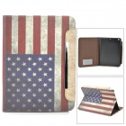 A-556 US National Flag Style Protective PU Leather Case for Ipad AIR - Blue + Red + White