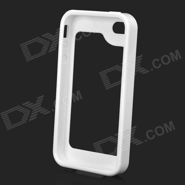 S-What Silicone + PC Bumper Frame Case for Iphone 4 / 4s - White