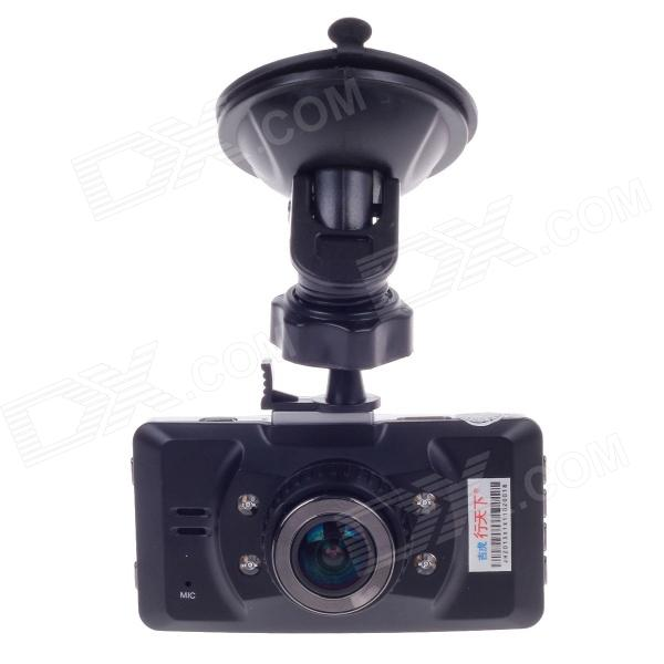 HD-159 2.7 TFT 5.0 MP CMOS 170 Degree Wide-angle Lens Car Digital Video Camcorder - Black + Silver 1 3 megapixel hd ar0130 cmos 0 01lux low light industrial wide angle usb ir camera module with panoramic 5mp 1 56mm fisheye lens