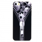 Zipper Mechanism Pattern Protective PC Back Case for Iphone 5 / 5s - Black + Multicolored