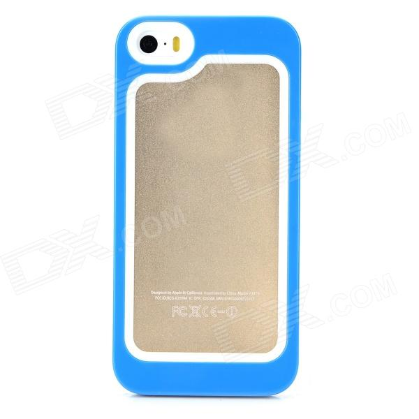 S-What Protective Detachable PC + Silicone Bumper Frame for Iphone 5 / 5s / 5c - White + Blue mf 352 080fpc touch