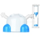 Cute Toothbrush Holder with Timer Hour Glass White