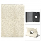 Cartoon Pattern Flip-open PU Leather Case w/ 360' Rotating Back + Auto Sleep + Holder for Ipad AIR