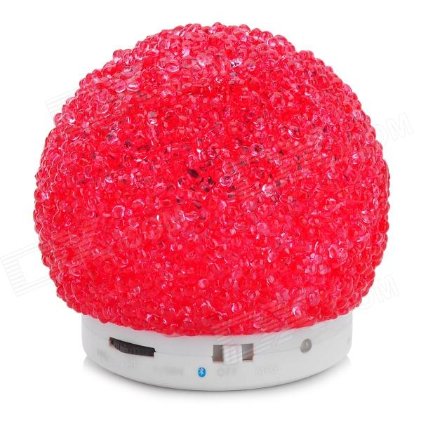 3W Bluetooth V2.1 MP3 Speaker w/ TF / Mini USB - White + Red thumbnail