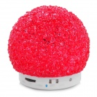 QC-001 3W Bluetooth V2.1 MP3 Speaker w/ TF / Mini USB - White + Red