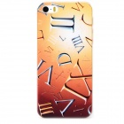 Roman Numerals Pattern Protective PC Back Case for Iphone 5 / 5s - Transparent + Multicolored