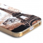 Eiffel Tower + Map Pattern Protective PC Back Case for Iphone 5 / 5s - Transparent + Multicolored
