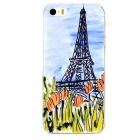 Effile Tower + Flower Pattern Protective PC Back Case for Iphone 5 / 5s - Transparent + Multicolored