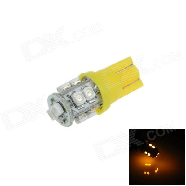 T10 / 194 / W5W 0.5W 90lm 10 x SMD 3528 LED Yellow Car Side Light / Indicator / Reading lamp - (12V)