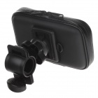M01 360 Degree Rotation Bracket w/ PU Leather Waterproof Bag for Iphone 4 - Black