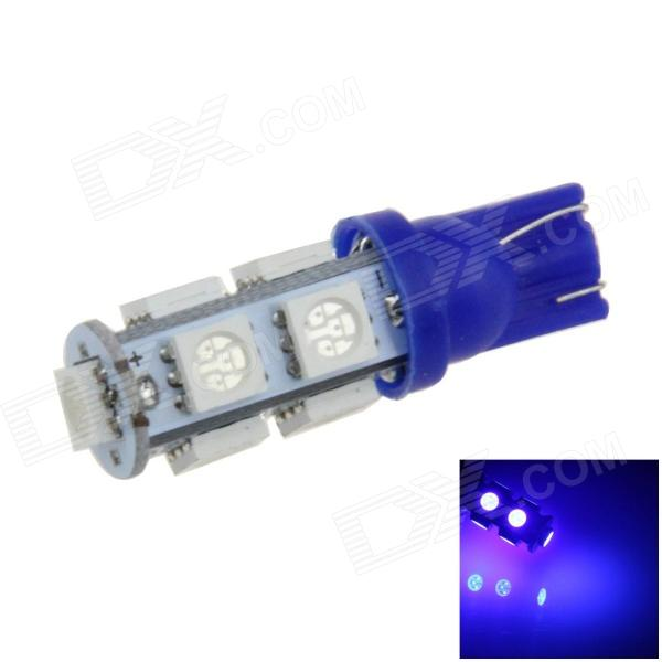 T10 / 194 / W5W 2W 200lm 9 x SMD 5050 LED Blue Car Side Light / Signal / Reading Lamp - (12V)