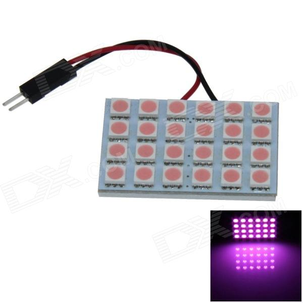 T10 / BA9S / Festoon 4W 200lm 24 x SMD 5050 LED Purple Light Car Light Reading / Panel de luz - (12V)