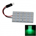 T10 / BA9S / Festoon 4W 200lm 24 x SMD 5050 LED Green Light Car Reading Light / Panel Light - (12V)