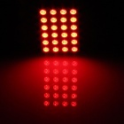 T10 / BA9S / Festoon 4W 200lm 24 x SMD 5050 LED Red Light Car Reading Light / Panel Light - (12V)