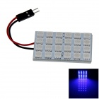 T10 / BA9S / Girlande-4W 200lm 24 x SMD 5050 LED-Blaulicht-Auto Leselampe / Panel Light - (12V)